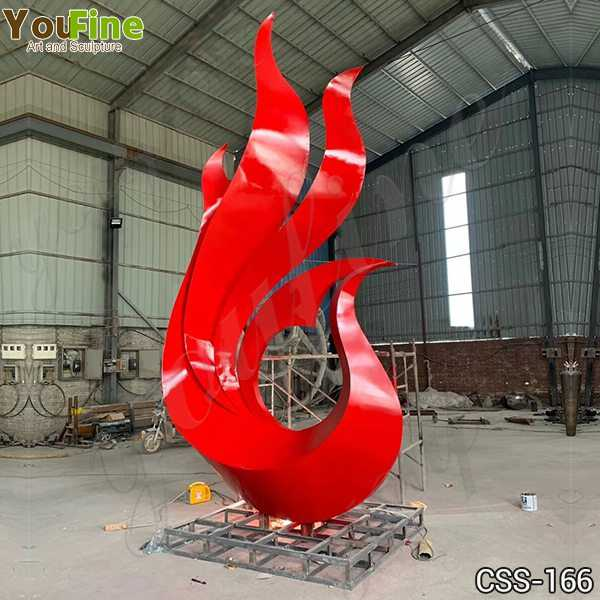 Outdoor Modern Abstract Metal Garden Sculpture Suppliers CSS-166