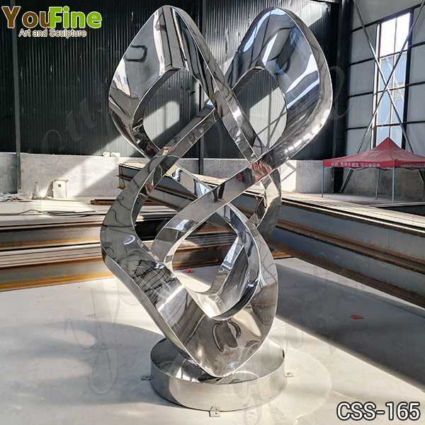 Abstract Metal Lawn Sculpture