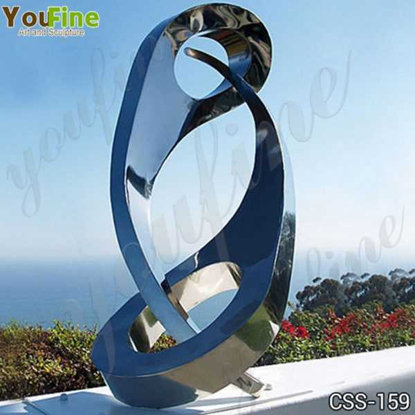Abstract Yin and Yang Stainless Steel Sculpture