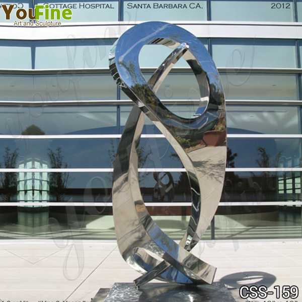 Abstract Yin and Yang Stainless Steel Sculpture Supplier