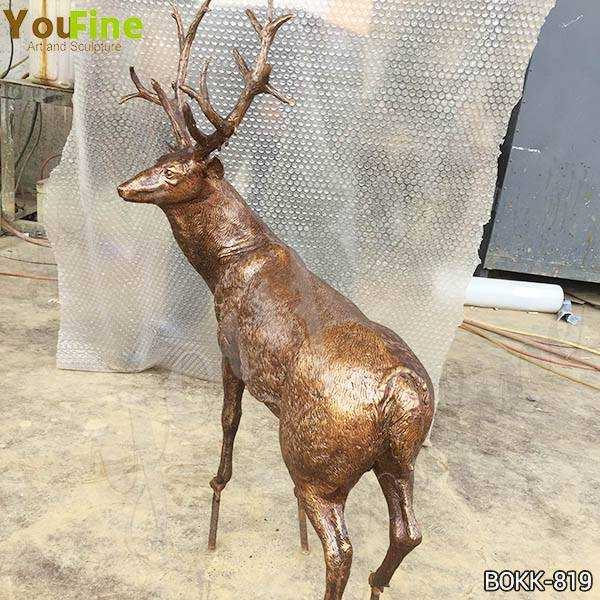 Antique Bronze Reindeer Statue for Sale