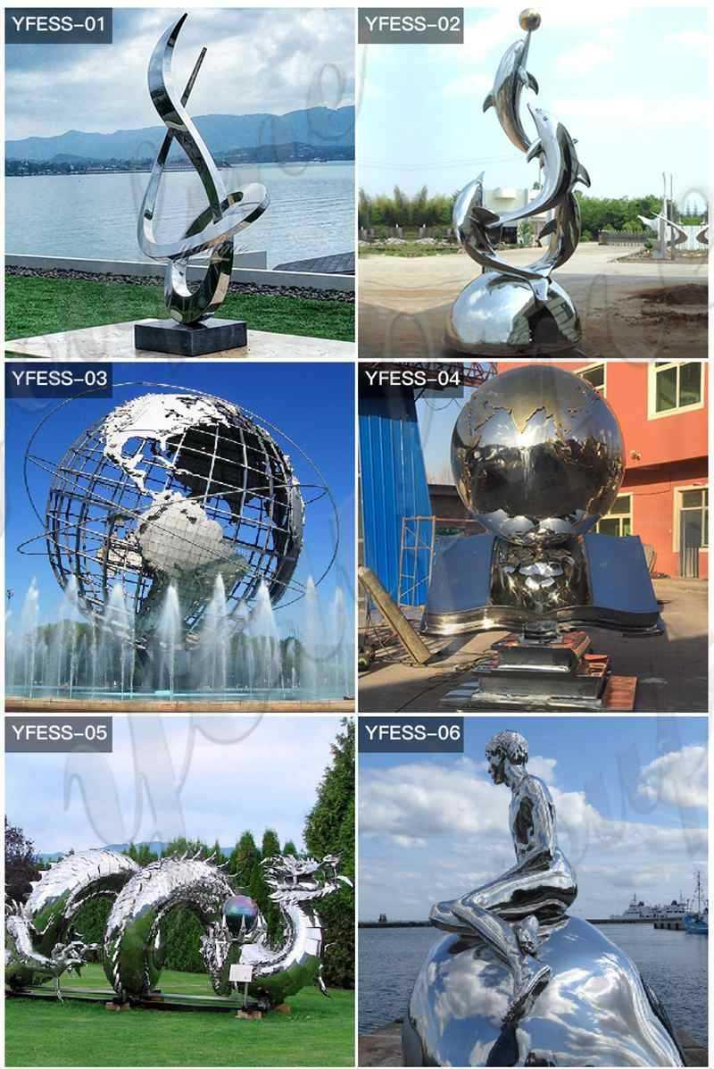 Beautiful-Stainless-Steel-Metal-Oval-Sculpture