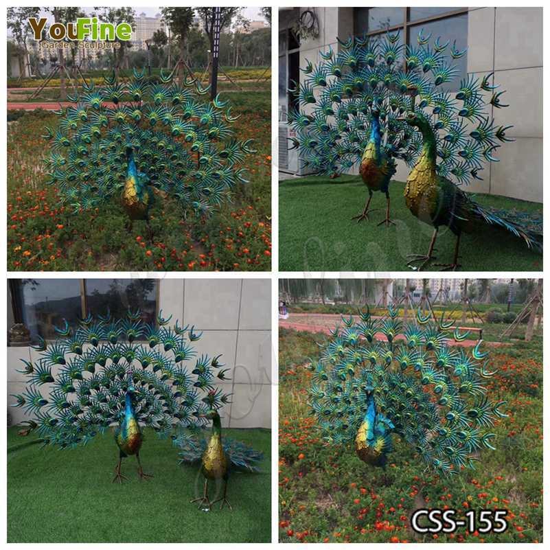 Beautiful Stainless Steel PeacockSculpture for Sale