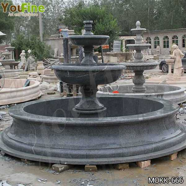 Black Granite Tiered Water Fountain Manufacturers