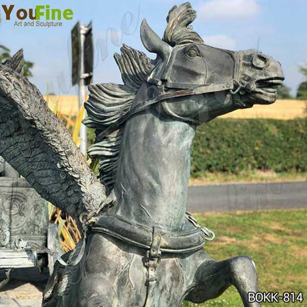 Bronze Perseus and Medusa Head Riding Chariot Sculpture