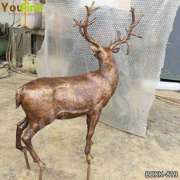 Bronze Reindeer Statue for Sale
