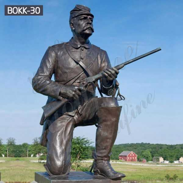 Bronze Statue Monument Soldier Gettysburg Replica Military Sculpture