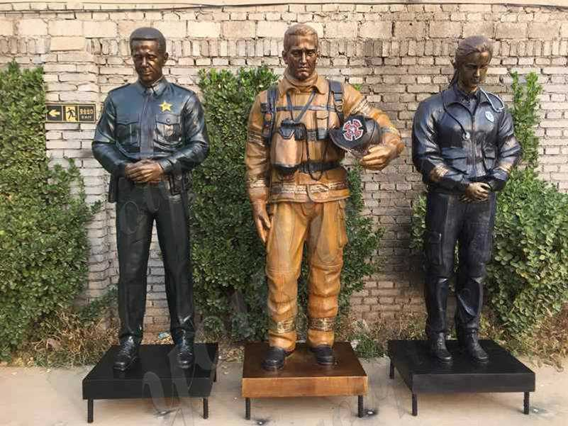 Bronze emergency medical service statue