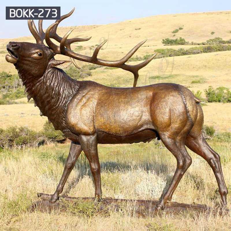 Buy Life Size Bronze Elk Garden Statue