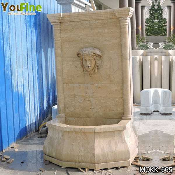 Buy Yellow Travertine Medusa Head Wall-Mounted Fountain Online