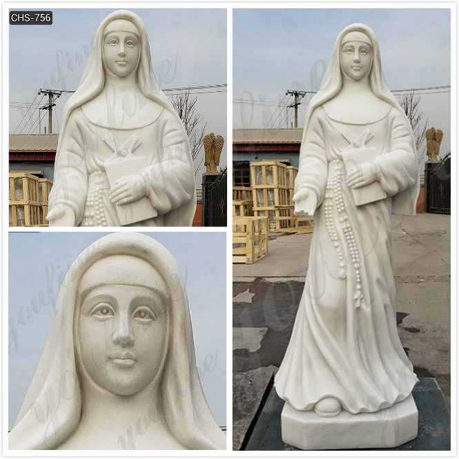 Outdoor Catholic White Marble St. Mary of the cross of Mckillop for Sale