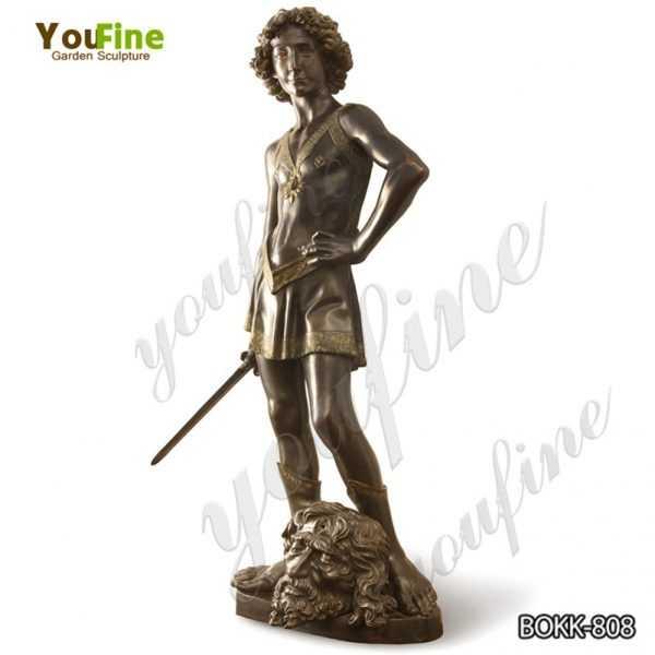 Classic Bronze Verrocchio's David Statue Replica for Sale