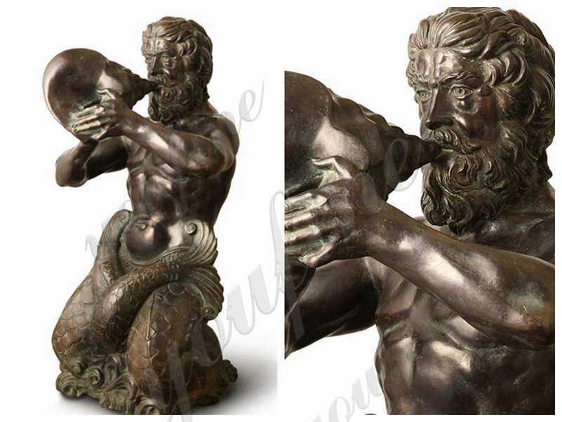 Classic Greek Life Size Triton Bronze Statue Replica for Sale BOKK-811