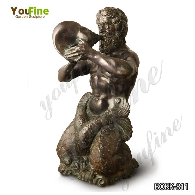 Classic Greek Life Size Triton Bronze Statue Replica for Sale BOKK-811