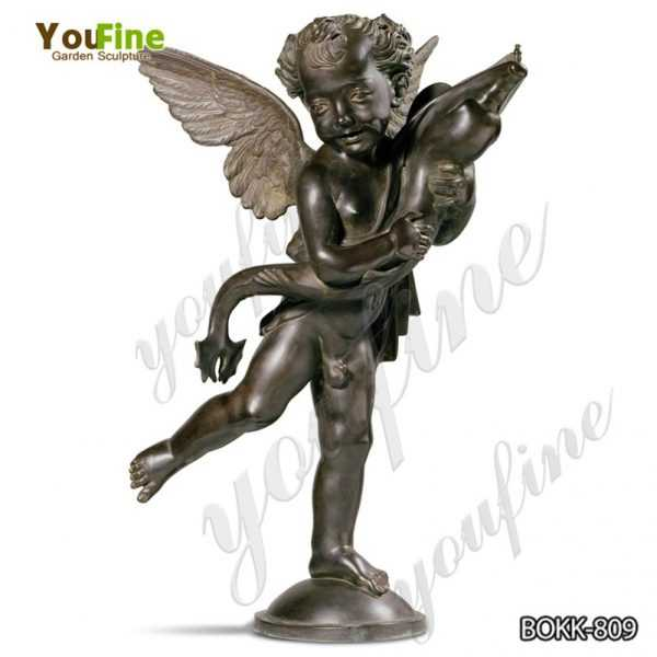 Classic western bronze winged boy with dolphin statue for Sale BOKK-809