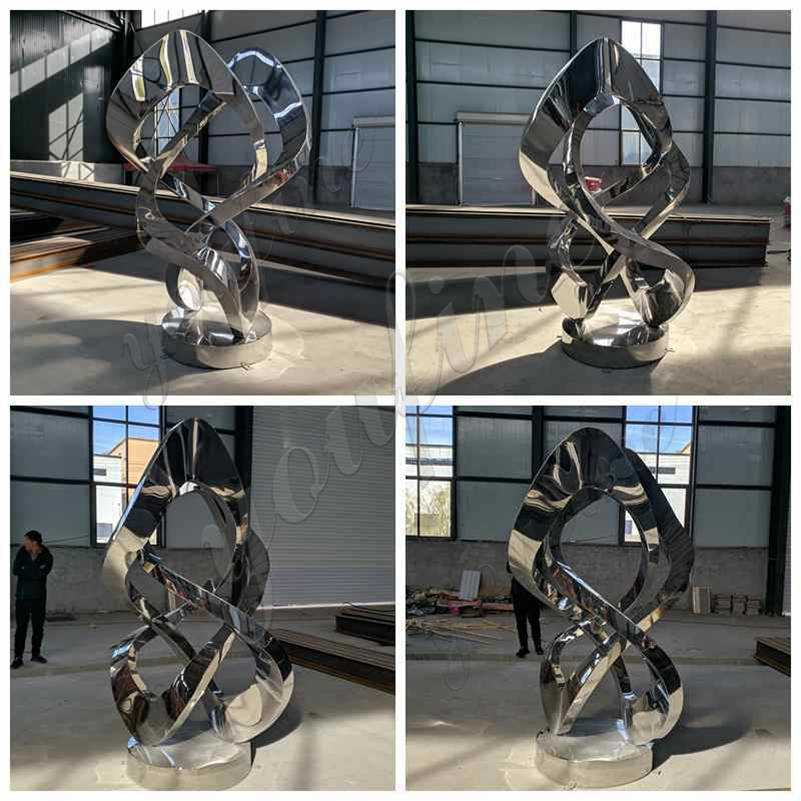Contemporary Outdoor Abstract Metal Lawn Sculpture Supplier
