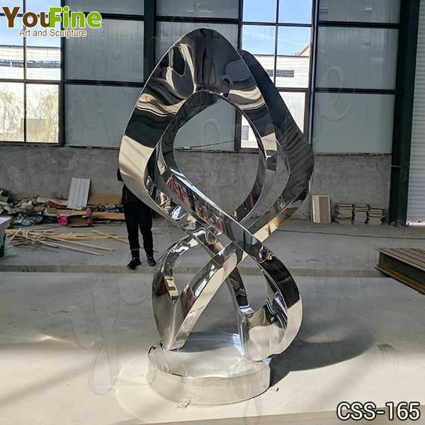 Contemporary Outdoor Abstract Metal Lawn Sculpture