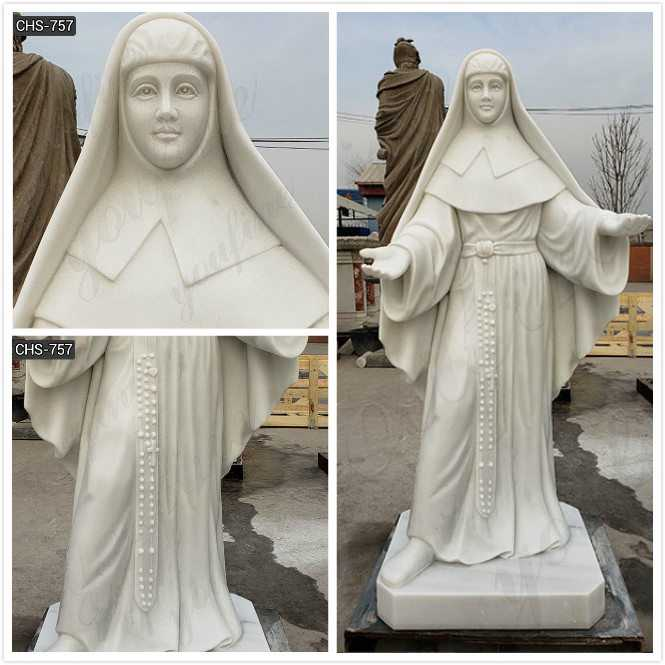 Custom Made Ven.Catherine McAuley Marble Statue detail