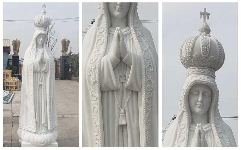 Fatima marble statue