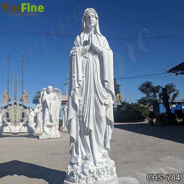 Full Size Marble Blessed Virgin Mary Statue Sculpture for Sale CHS-784