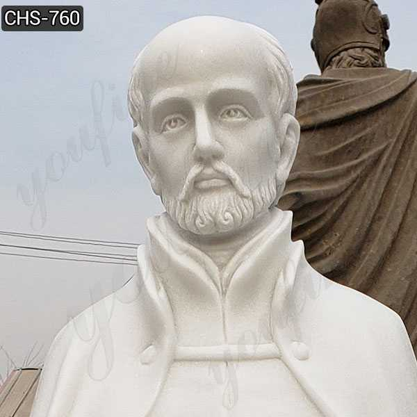 Full Size Marble St. Ignatius of Loyola Statue Supplier