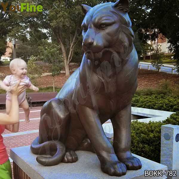 Full Size Metal Bronze Tiger Statue Manufacturer BOKK-783