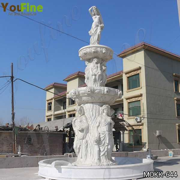 Large Tiered Garden Marble Statuary Fountain Factory Supply MOKK-644