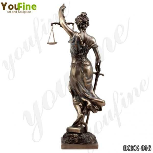 Greek the Goddess of Justice Themis Bronze Sculpture