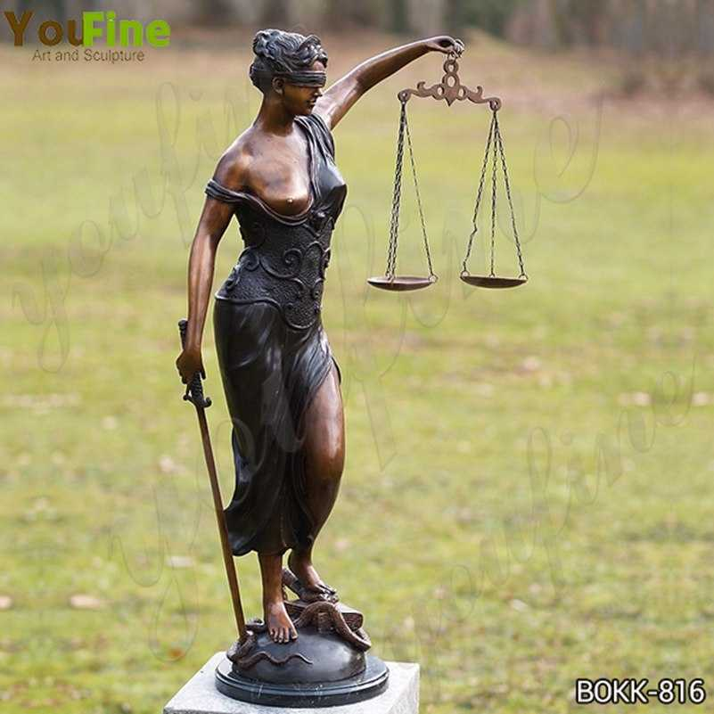 Greek the Goddess of Justice Themis Bronze Sculpture for Sale BOKK-816