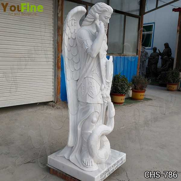 Guardian St. Michael Angel Marble Statue for Sale