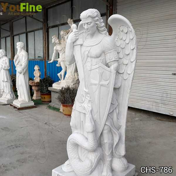 Guardian St. Michael Angel Marble Statue