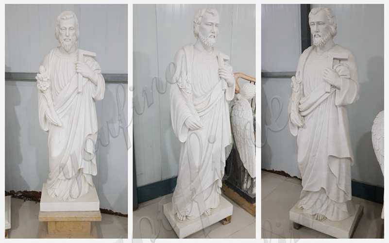 Hand Carved Catholic Marble Statue of St Joseph Factory Supply