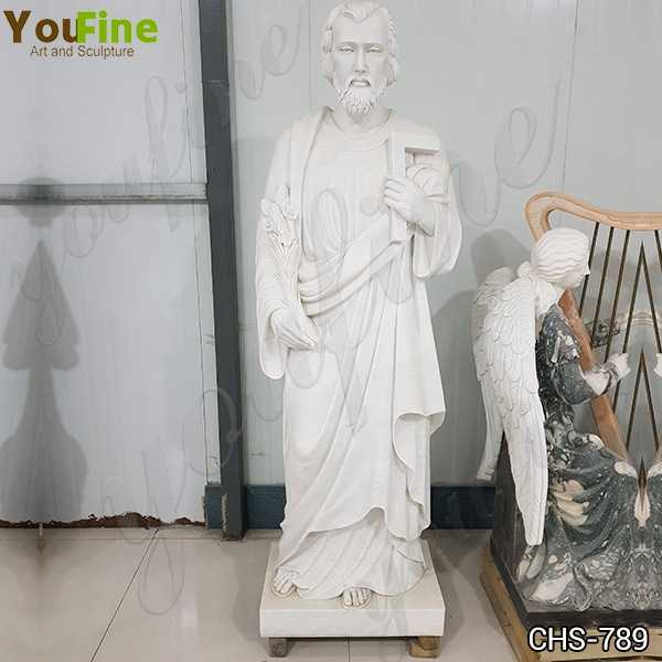 Hand Carved Catholic Marble Statue of St Joseph Factory Supply CHS-789
