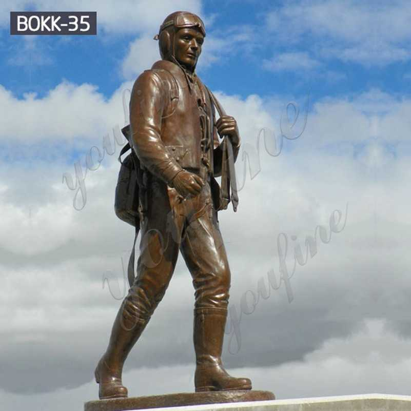 Hand Made Monument Bronze Soldier Sculpture Outdoor for Sale BOKK-35