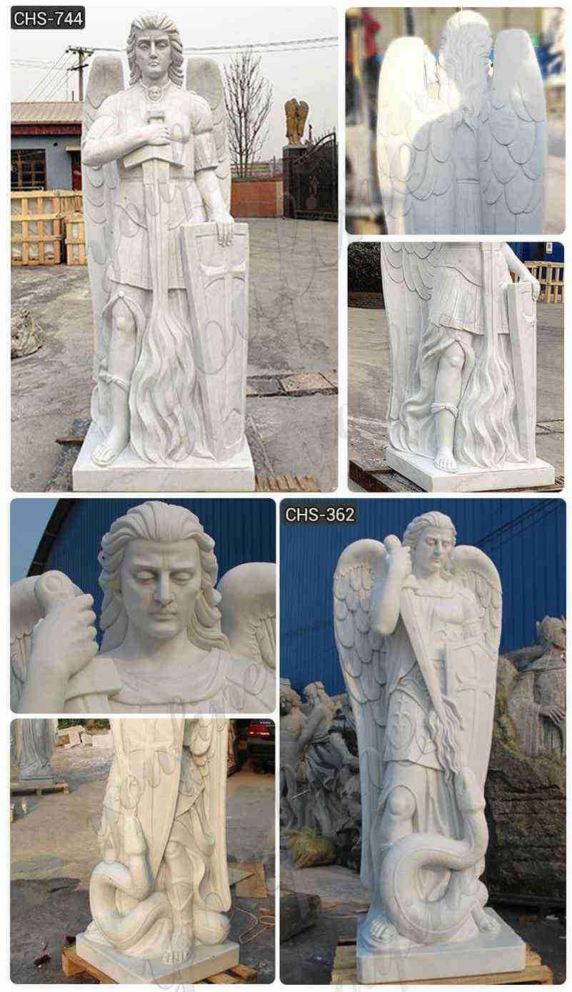 Hand Made St. Michael Angel Marble Statue