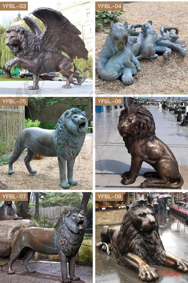 Large Bronze Guardian Lion Statue