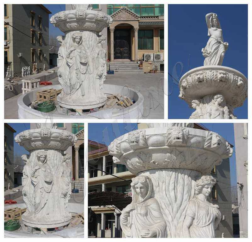 Large Marble Statuary Fountain Factory Supply