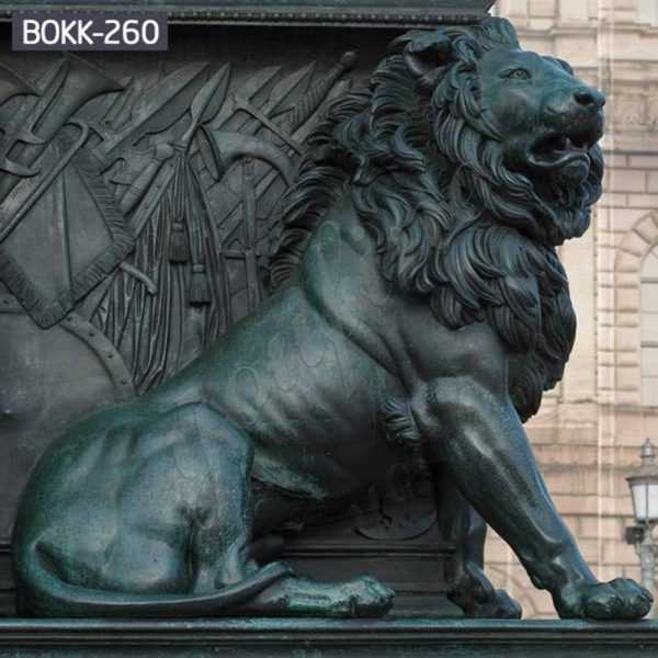 Large Metal Bronze Guardian Lion Statu