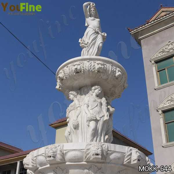 Large Tiered Garden Marble Statuary Fountain
