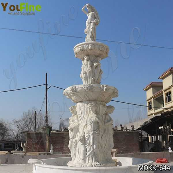 Large Tiered Garden Marble Statuary Fountain Factory Supply