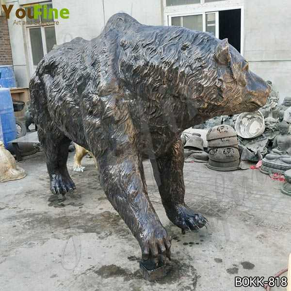 Outdoor Life Size Bronze Grizzly Bear Statue Sale Online BOKK-818