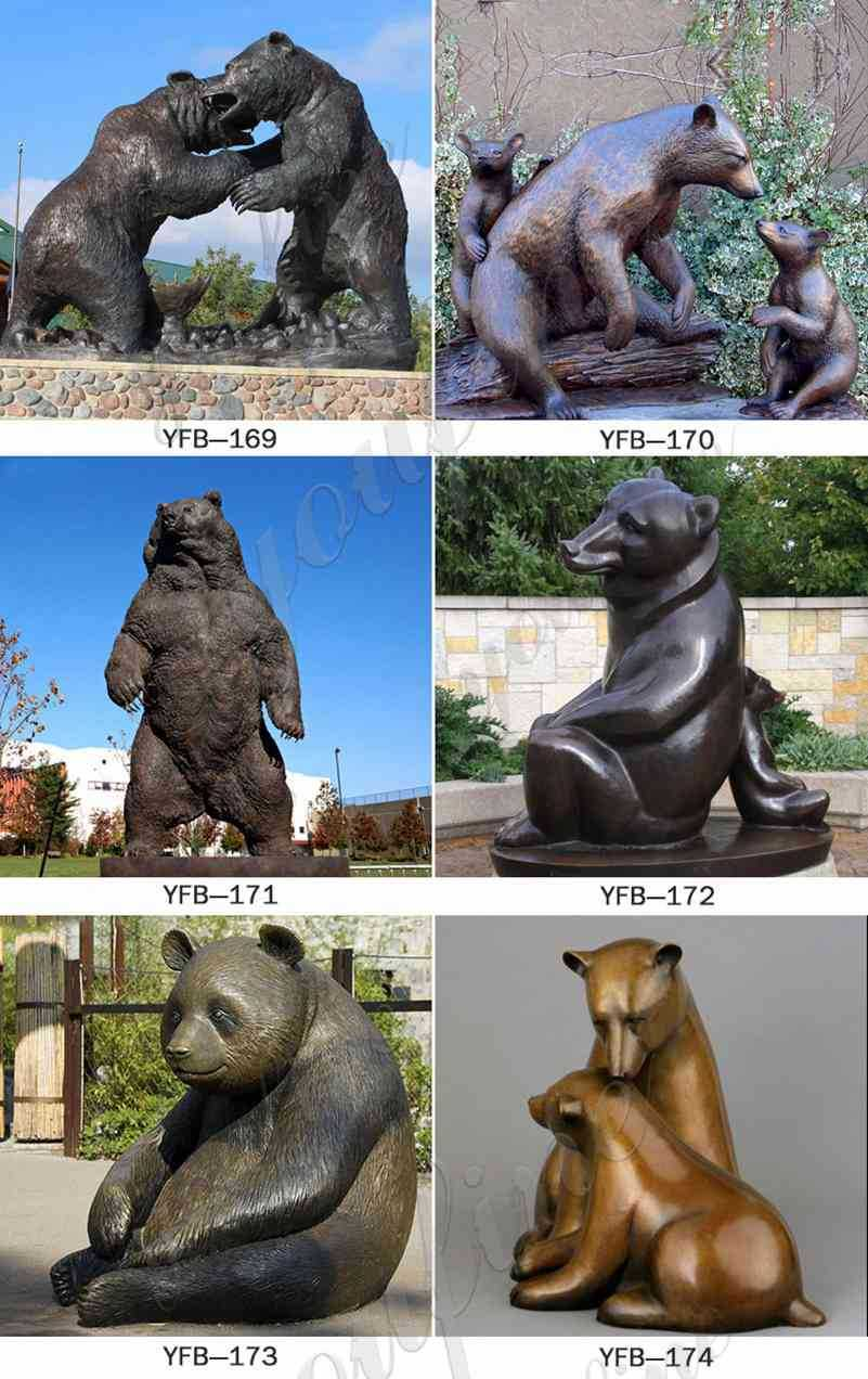Life Size Bronze Grizzly Bear Statue