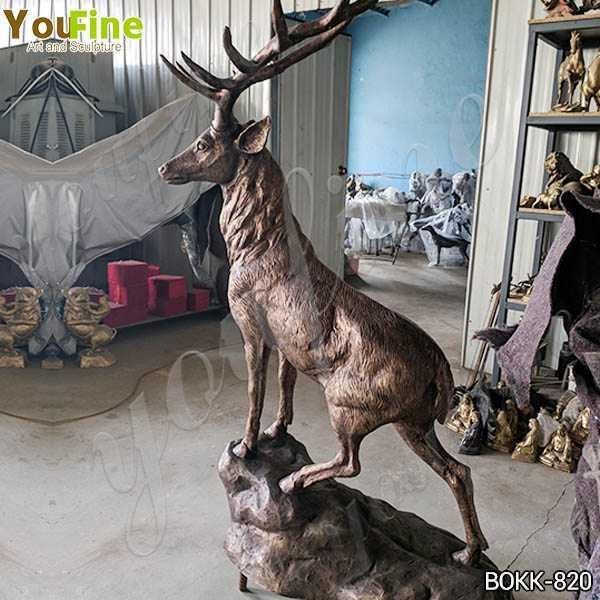 Life Size Bronze Standing Deer Sculpture Supplier