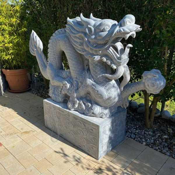 Life Size Gray Stone Dragon Sculpture Feedback from Our Swiss Client