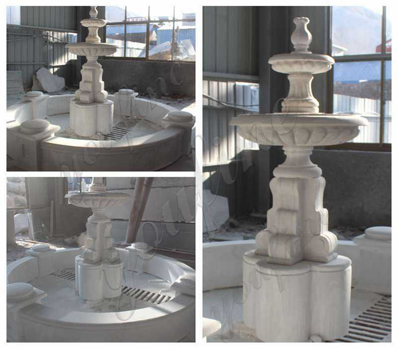 Life Size Marble Tiered Outdoor Water Fountain Wholesale