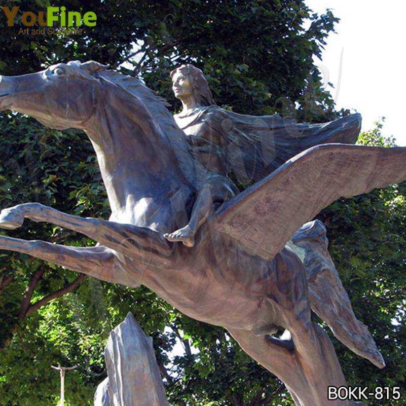 Life Size Pegasus Bronze Garden Statue for Sale