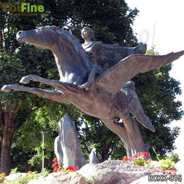 Life Size Pegasus Bronze Garden Statue for Sale BOKK-815