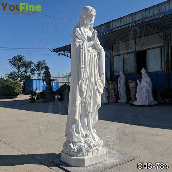 Marble Blessed Virgin Mary Statue Sculpture for Sale