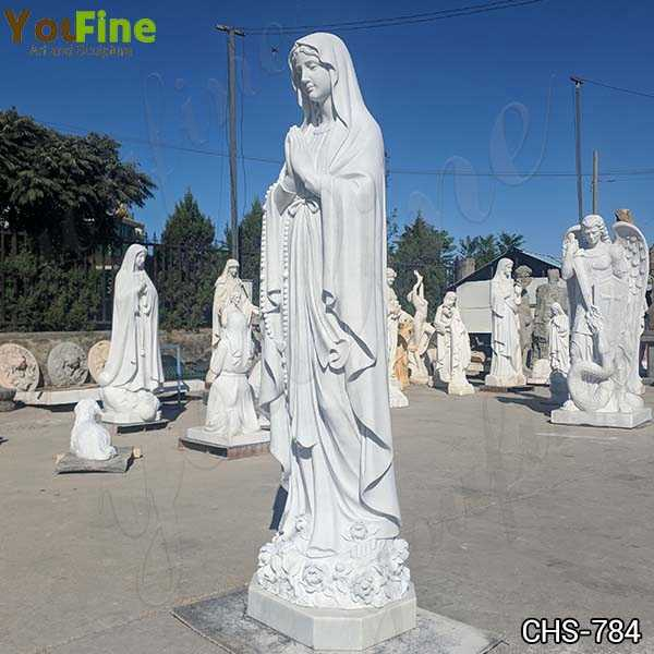 Marble Blessed Virgin Mary Statue Sculpture