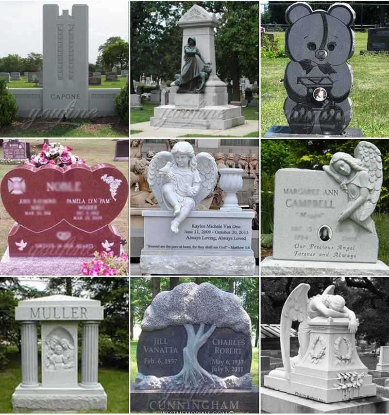 Marble Headstone Monument Design for Sale